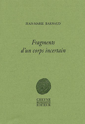 Couverture Fragments d'un corps incertain